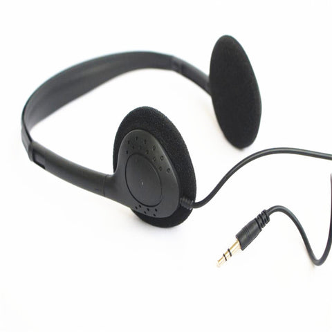 Linhuipad Economical Stereo headphones 3.5mm disposable headset for gyms ,hospital ,library