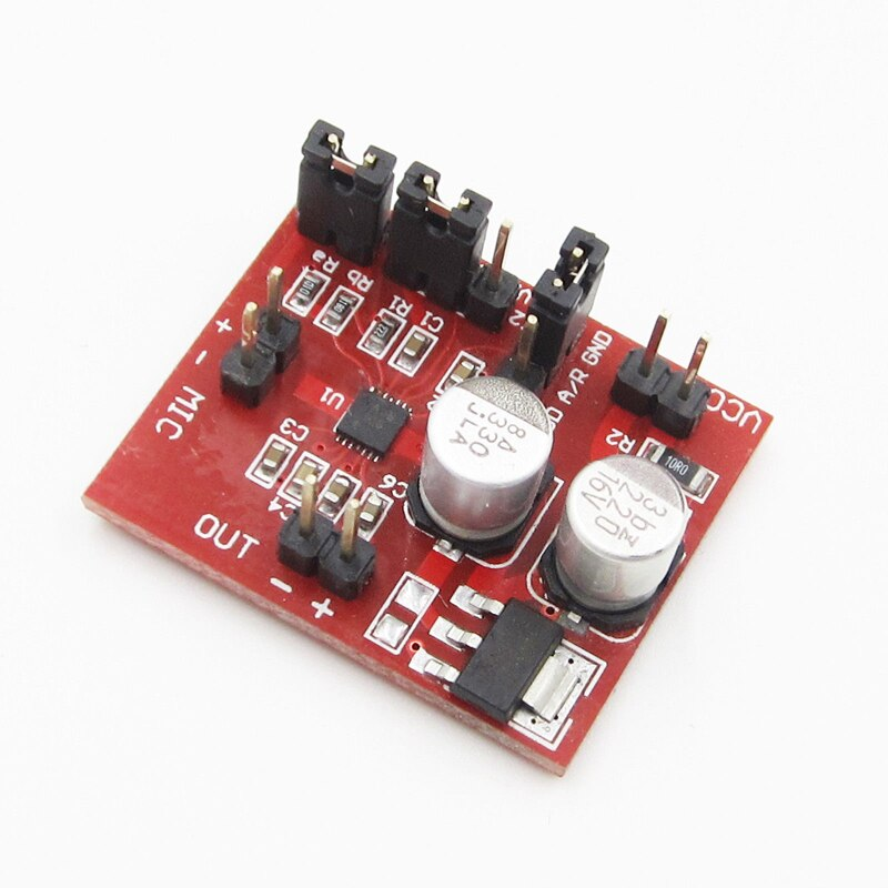 MAX9814 Electret Microphone Amplifier decodificador audio Board Module With AGC Function DC 3.6-12V