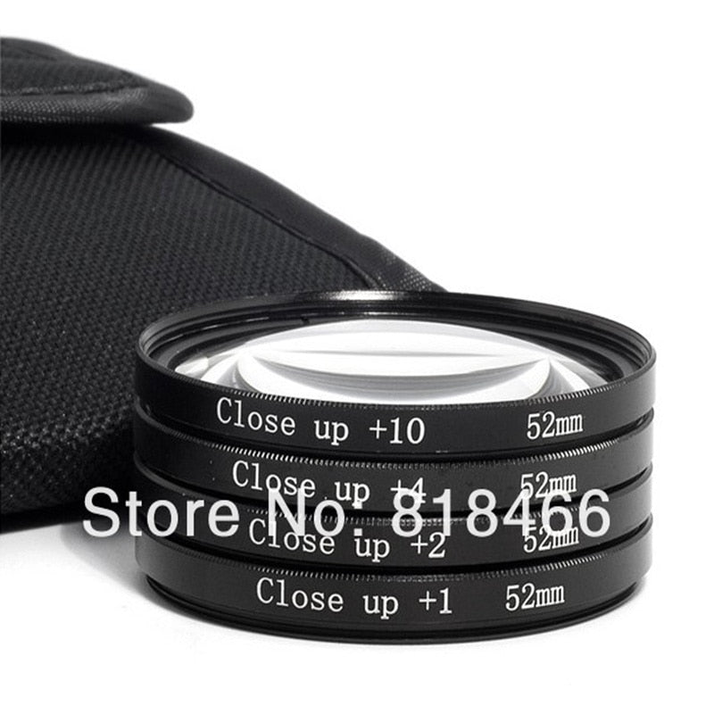 Macro Close Up Lens filter +1+2+4+10 Filter Kit 49mm 52mm 55mm 58mm 62mm 67mm 72mm 77mm for canon