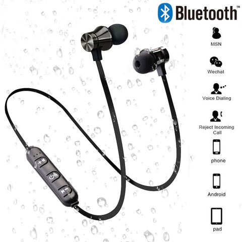 Magnetic Wireless Bluetooth Earphone Stereo Sports Waterproof Earbuds Wireless in-ear Headset with