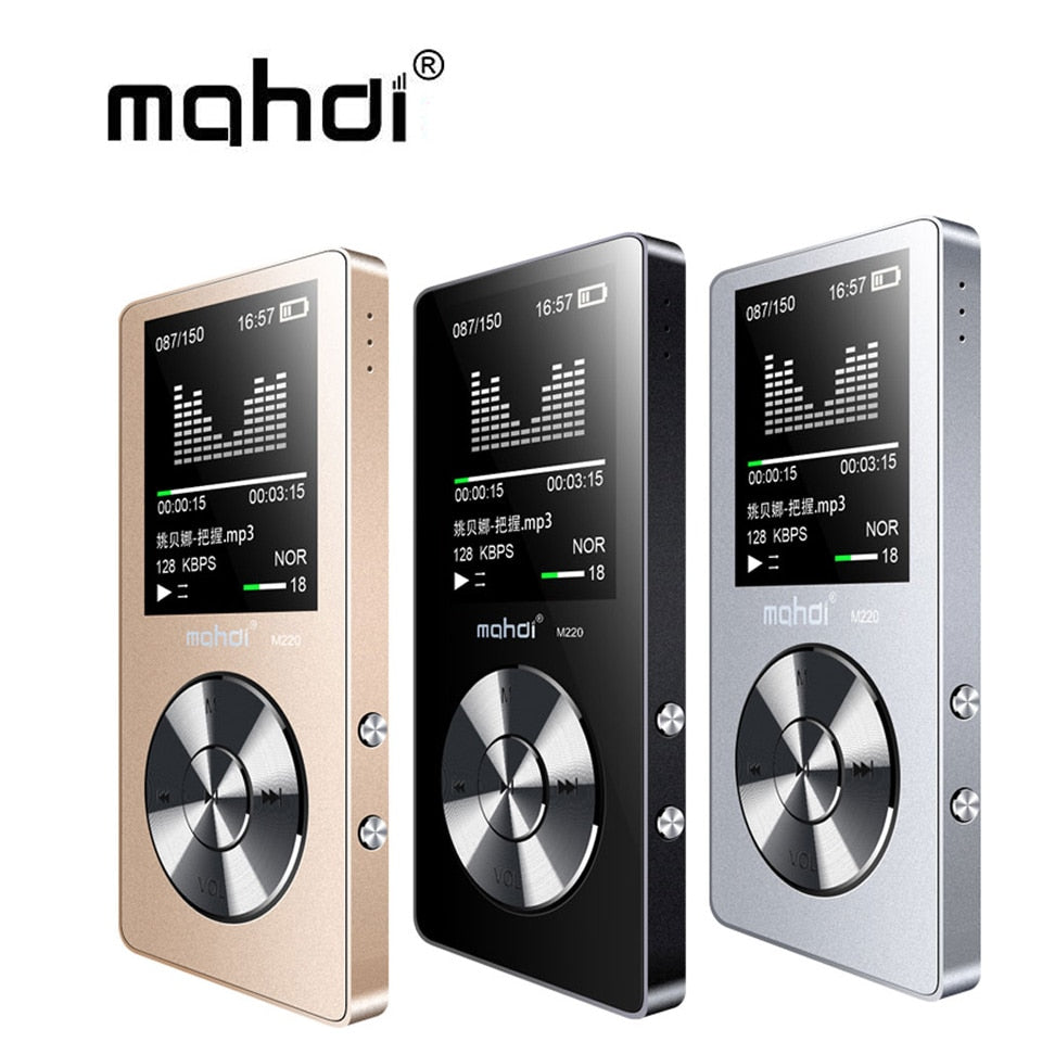 Mahdi M220 Metal MP3 Player Portable Digital Audio Player With 1.8 Inch Screen FM E-Book Clock