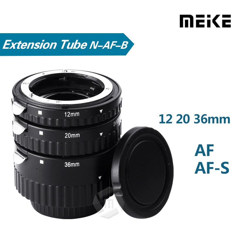 Meike N-AF1-B Auto Focus Macro Extension Tube Ring for Nikon D7100 D7000 D5100 D5300 D3100 D800 D600