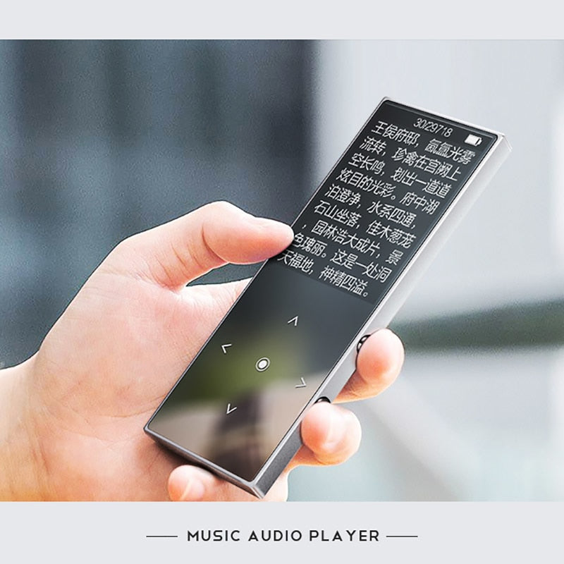 Metal Mp3 player bluetooth with Touch Screen Build in Speaker benjie k8 HIFI Music player with FM