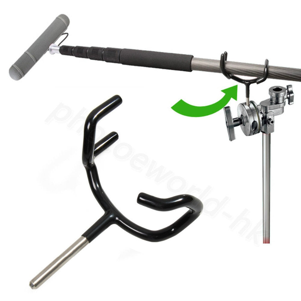 Microphone Support Holder Coated to Protect your Boom pole for Rode Sure Microphone