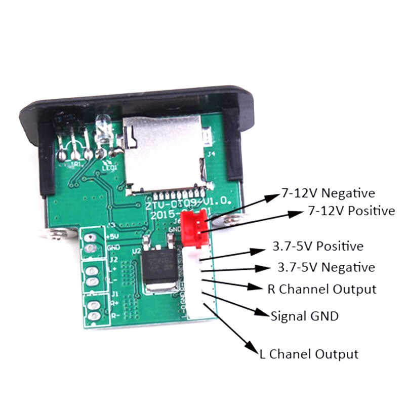 Mini 5V 3W*2 MP3 Decoder Board Decoding Module MP3 WAV U Disk TF Card USB Amplifier Speaker Audio