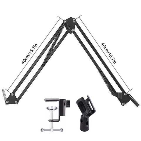 NB 35 Stand For Microphone Suspension Arm Adjustable Metal Boom Scissor Arm Holder With Mic Clip