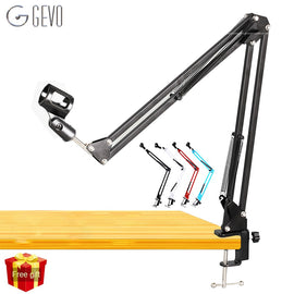 NB 35 Stand For Microphone Suspension Arm Adjustable Metal Boom Scissor Arm Holder With Mic Clip Table Mounting Clamp For BM 800