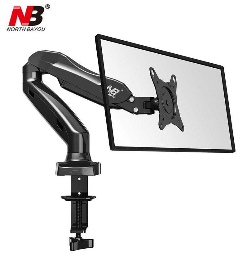 "NB F80 Desktop17-27"" LCD LED Monitor Holder Arm Gas Spring Full Motion TV Mount Loading 2-6.5kgs"
