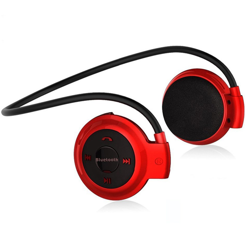 NVAHVA Bluetooth Earphone MP3 Player Sports Wireless Headphone Card MP3 Player with FM Radio