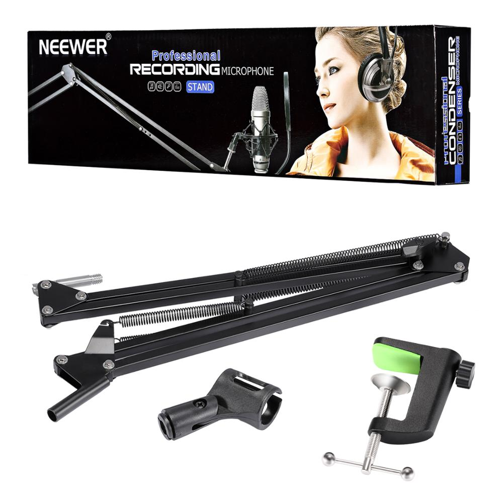 Neewer NB-35 Broadcasting Studio Microphone Mic Stand Boom Scissor Suspension Arm Mount Shock
