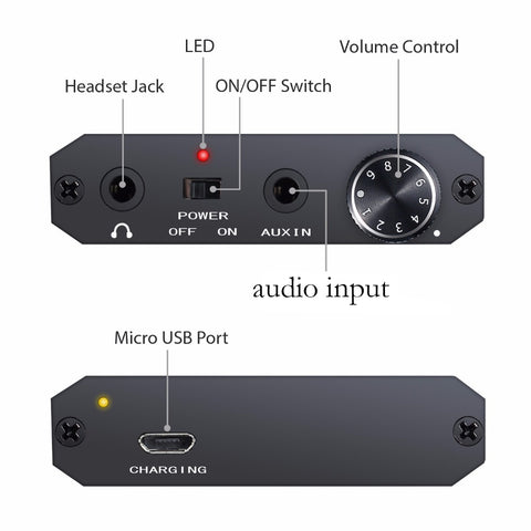 Neoteck Mini Audio Portable Earphone HIFI Amplifier Headphone 3.5mm studio Audio input Amplifier for