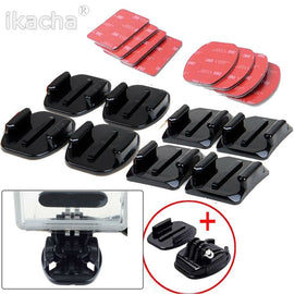 New Arrival For GoPro HERO 4 Accessories Flat, 8 pcs Flat Curved Adhesive Mount Helmet Accessories