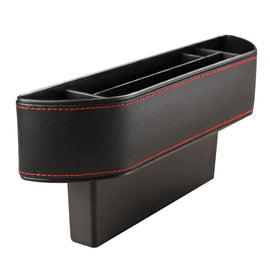 Car Seat Crevice Storage Box PU Leather Auto Seats Gap Pocket Organiser