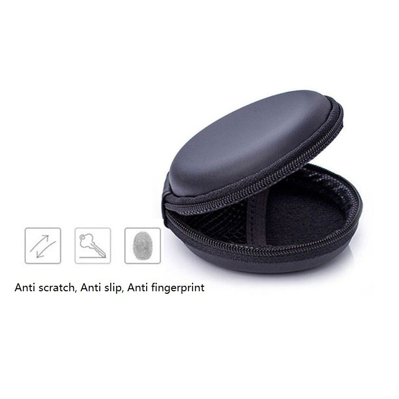 New Earphone Bags Portable Hold Case Storage Carrying Hard Bag Box for Earphone Headphone Earbuds