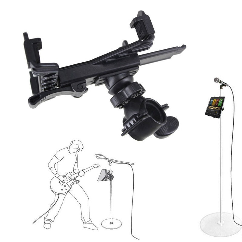 Microphone Stand Holder Mount for 7 to 11inch Tablet iPad Air 5 4 3 2 Samsung Tab QJY99