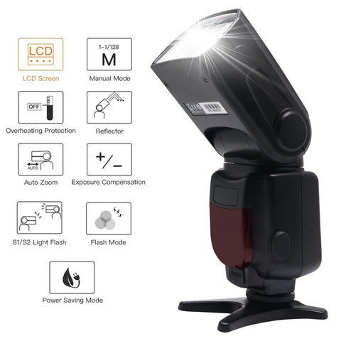 New Triopo TR-950 Flash Light Speedlite Universal For Fujifilm Olympus Nikon D5300 Canon 650D 550D