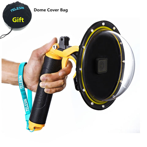 Waterproof Accessories Diving Hood Dome+Handheld Monopod Bobber Floating Mount