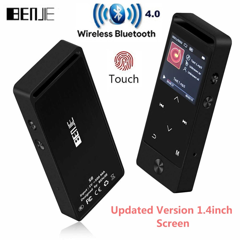 Newest Version Original Touch Button MP3 Player 8GB BENJIE S5B/S8 High Quality Entry-level