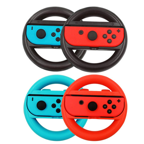 Nintend Switch 17 in 1 Accessories Set with 4 * Steer Wheel Handle & 4 * Controller Grips Type-C