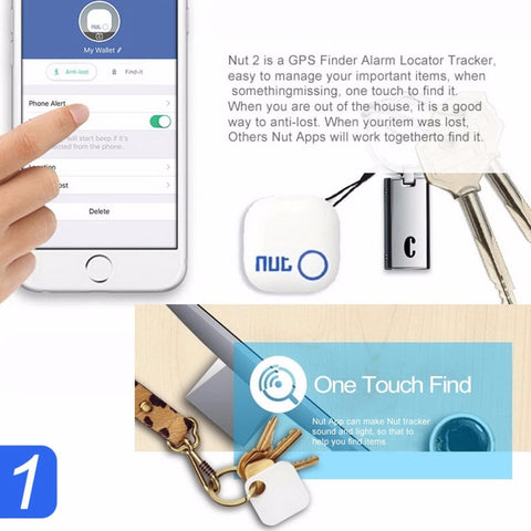 Nut 2 Smart Finder Bluetooth Key Finder Anti-lost Tracker Tracking Wallet/key Tracer Locator