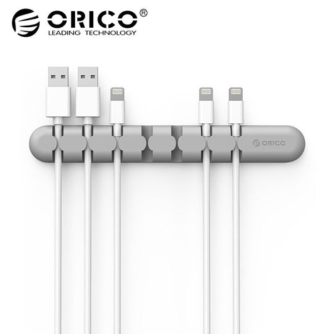 ORICO CBS Cable Winder Earphone Cable Organizer Wire Storage Silicon Charger Cable Holder Clips