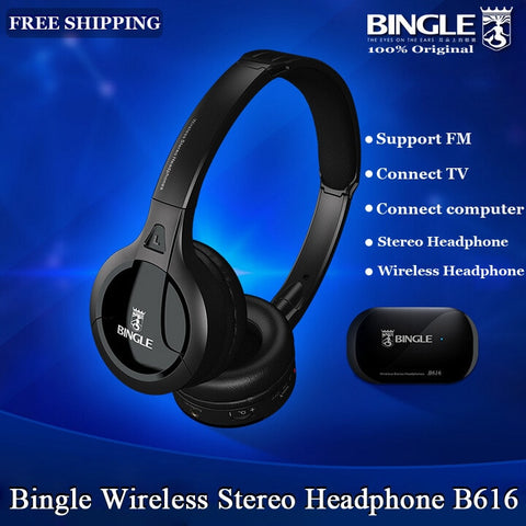 Original Bingle B616 Multifunction stereo Wireless Headset Headphones with Microphone FM Radio for