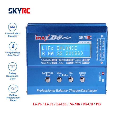 Original SKYRC IMAX B6 MINI Balance Charger-Discharger For RC Helicopter Re-peak NIMH/NICD