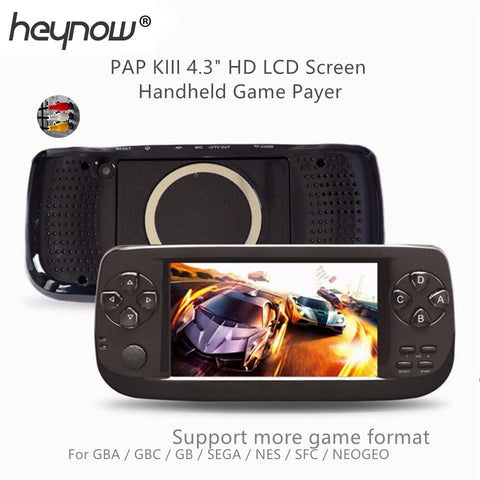 PAP K3 4.3inch Handheld Game Player 64bit Built-in 3000 Retro Classic Games For GBC/CP1/NEO for