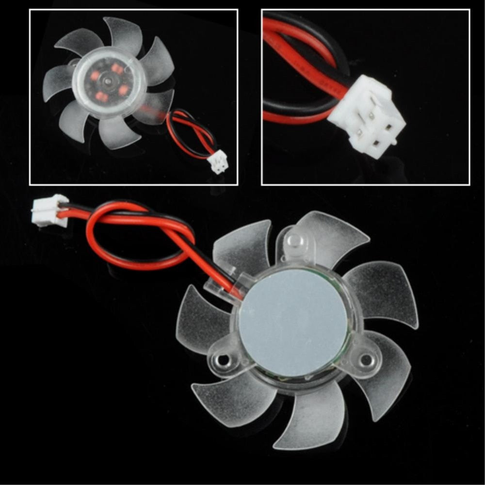 PC Computer Cooling Fan 12V 2 Pin 7 Blades PC VGA Graphics Video Card Heatsink Cooler Cooling Fan