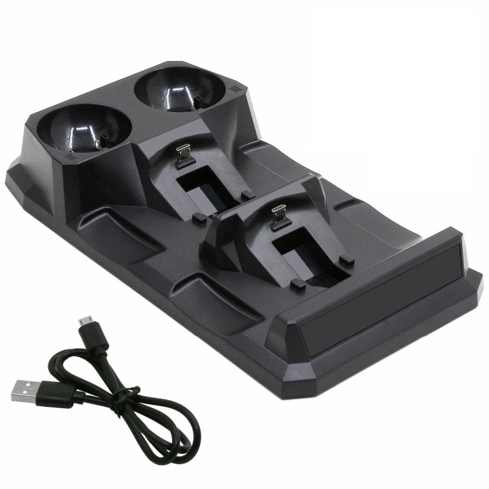 PS4 4 in 1 Quad PS 4 Charging Dock Station Stand for Sony Playstation 4 PS4 Slim Pro PS Move
