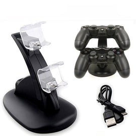 PS4 Controller Charger Dock LED Dual USB ps 4 Charging Stand Station Cradle