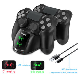 PS4 Controller Joypad Joystick Handle USB Charger Dual USB Fast Charging Dock Station for