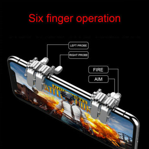 PUBG Mobile Trigger Gamepad Controller Sensitive Touch L1R1 Fire Button Shooter Grip Trigger Aim Key