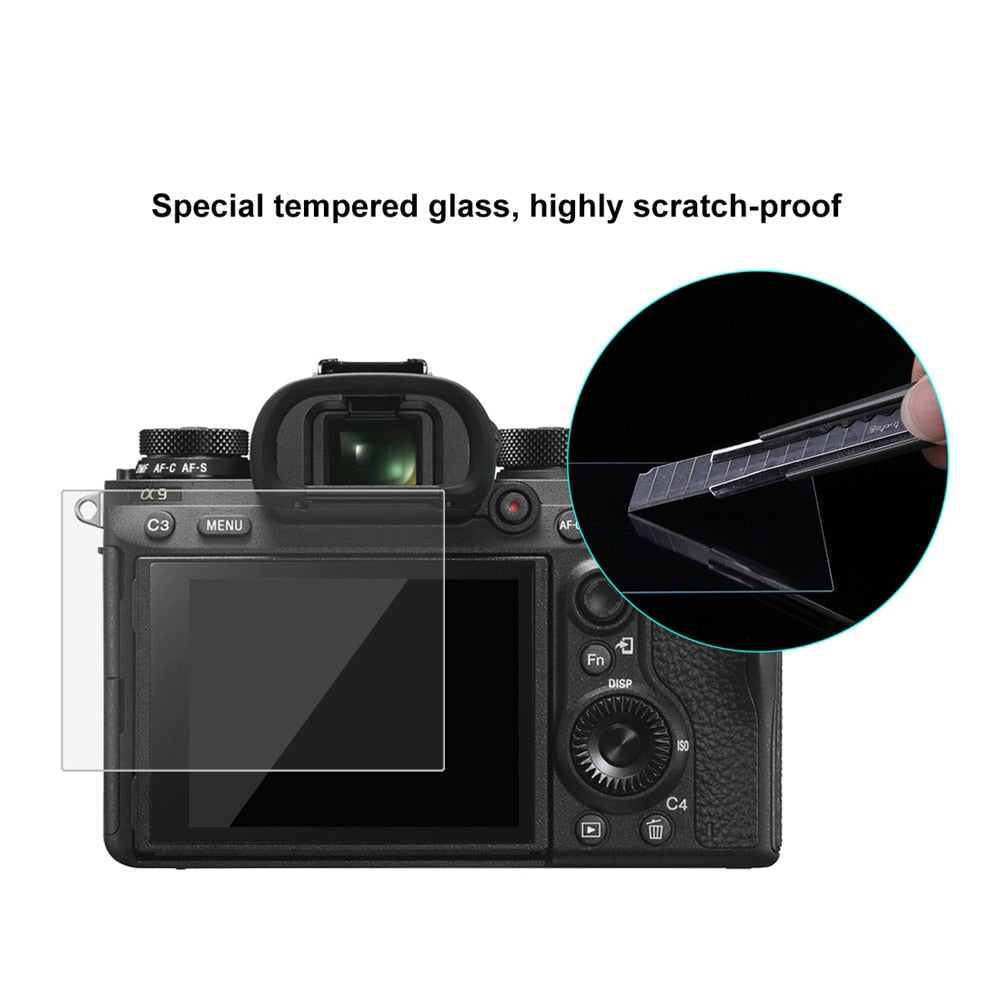PULUZ 1pc 9H Tempered Glass LCD Screen Protector Film Suitable For Sony ILCE-9 A9 A6000/A6500