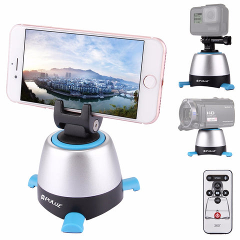 PULUZ 360 Degree Rotation Panning Rotating Panoramic tripod head with Remote Controller Stabiliser