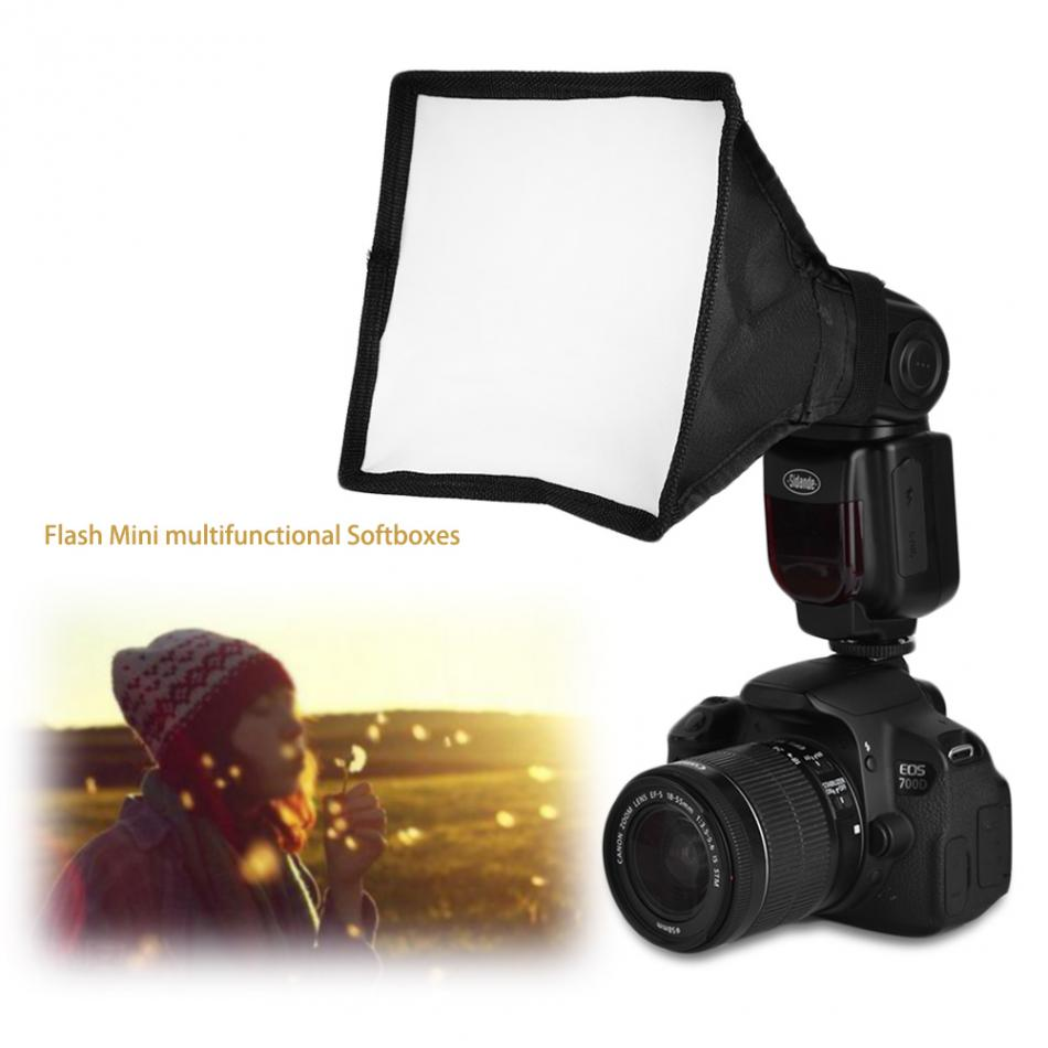 Photography Accessories 15*17cm Portable Multifunctional Soft Box Kit Mini Softbox For Flash Gun