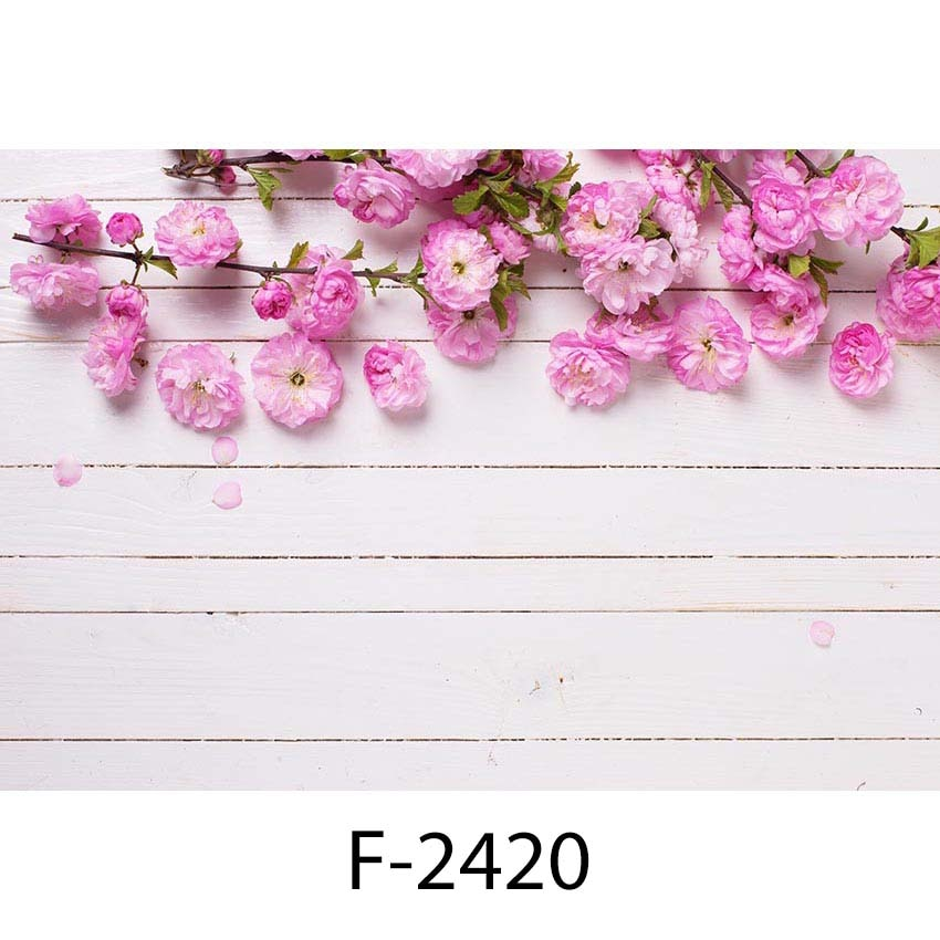 Photography Backdrops Newborn Wood Floor Photo Background Baby Flower Backdrop for Photo Studio