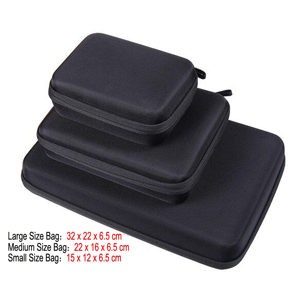 Portable Carry Case Small Medium Large Size Accessory Anti-shock Storage Bag for Go pro Hero 3/4