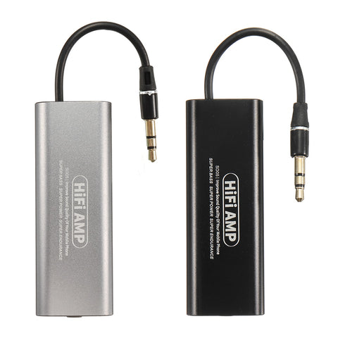 Portable Mini 3.5mm Headphone Earphone HiFi Amplifier Stereo Audio AMP For Mobile Phone