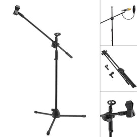 Swing Boom Floor Metal Stand Microphone Holder Microphone Stand Adjustable Stage Tripod