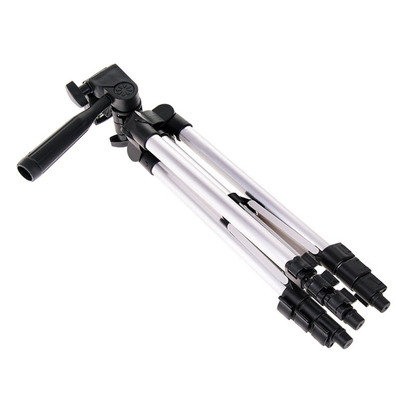 Protable Adjustable Phone Camera Tripod Flexible Stand Mount Holder Clip Set Universal Tripods for