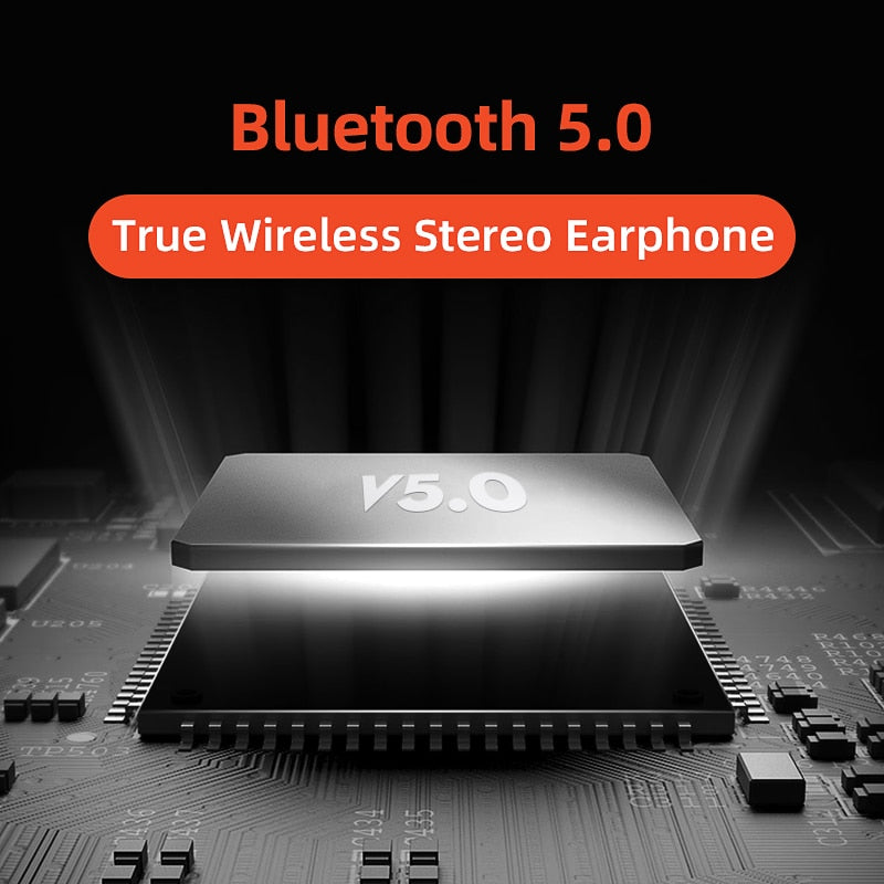 QCY T3 TWS Fingerprint Touch Wireless Headphones Bluetooth V5.0 3D Stereo Dual-Mic Noise