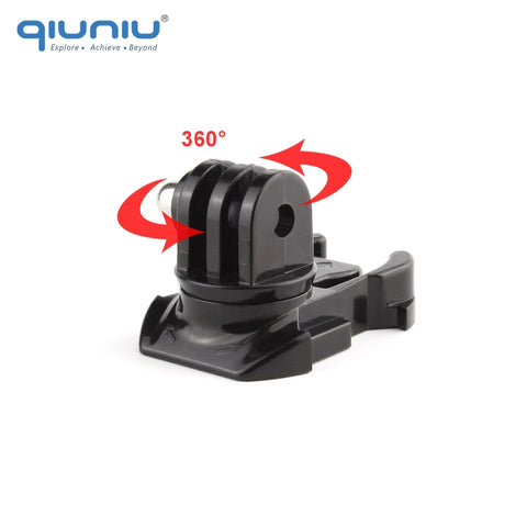 QIUNIU 360 Degree Rotate Quick Release Buckle Vertical Swivel Mount for GoPro Hero 6 5 4 3+ 3 2