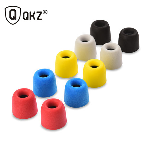 QKZ T400 10 pcs Earphone tips Memory Foam QKZ Original 5 Pairs foam tips T400 Ear Pads for all in