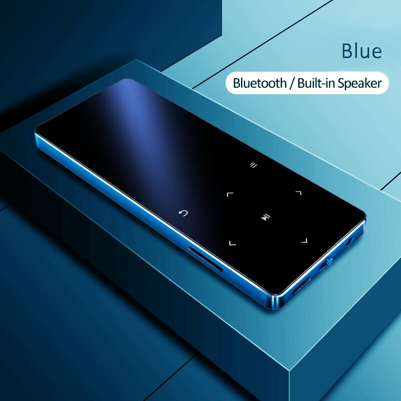MP3 Player with Bluetooth Speaker Touch key Built-in 8GB 16GB HiFi Metal Mini Portable Walkman