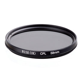 RISE 58mm Circular Polarizing CPL C-PL Filter Lens 58mm For Canon NIKON Sony Olympus Camera free