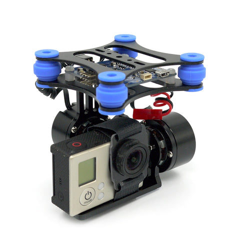 RTF 2 Axis Brushless Gimbal Camera w/ 2208 Motors BGC Controller Board Support SJ4000 Gopro 3 4
