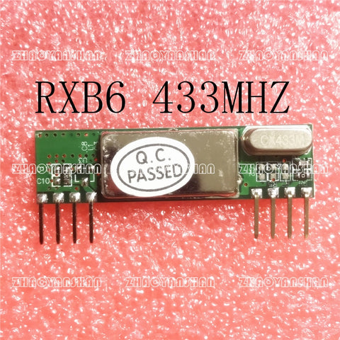 RXB6 433Mhz Superheterodyne Wireless Receiver Module 1PCS