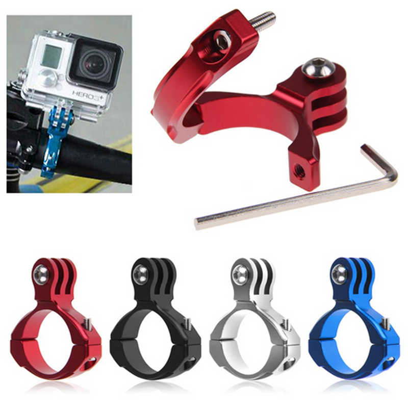 Random Color Bike Cycle Aluminum Handle Bar Clamp Mount Bicycle Motorcycle Camera Clip Holder