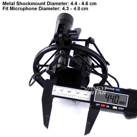 Recording Studio Microphone Stand Shock Mount For Computer Condenser Mic Holder Metal Shockmount Clip Suspension Spider Bracket
